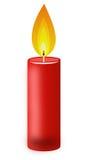 Vela de Conflagrant de color rojo en un fondo blanco ilustración del vector