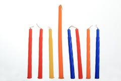 Vela de Hanukkah Foto de Stock Royalty Free