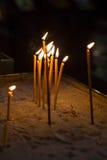 Vela de la ceremonia de la religión Foto de archivo