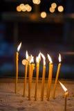Vela de la ceremonia de la religión Imágenes de archivo libres de regalías