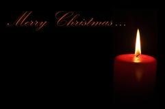 Vela de la Feliz Navidad Fotos de archivo