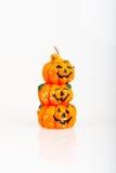 Vela de la naranja de la calabaza de Halloween Imagen de archivo
