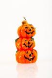 Vela de la naranja de la calabaza de Halloween Fotos de archivo libres de regalías