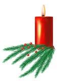 Vela de la Navidad Imagen de archivo