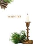 Vela de la Navidad Imagen de archivo libre de regalías