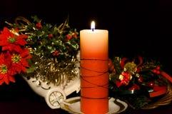 Vela de la Navidad Fotografía de archivo libre de regalías