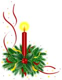 Vela de la Navidad libre illustration