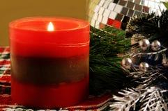Vela de la Navidad Foto de archivo