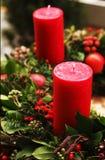 Vela de la Navidad Fotos de archivo libres de regalías