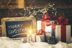 Vela de la Navidad Fotografía de archivo
