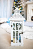 Vela de la Navidad blanca Imagen de archivo