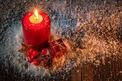 Vela de la Navidad - tarjeta de Navidad Imagen de archivo libre de regalías
