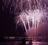 Vela 2015 de los fuegos artificiales Fotografía de archivo libre de regalías