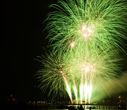 Vela 2015 de los fuegos artificiales Imagen de archivo