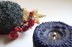Vela de Navidad Foto de archivo libre de regalías