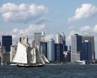 Vela de New York City Imágenes de archivo libres de regalías