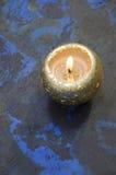 Vela de oro Foto de archivo libre de regalías