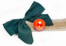 Vela decorativa vermelha do Natal Imagem de Stock Royalty Free