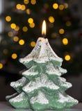 Vela del árbol de navidad Foto de archivo