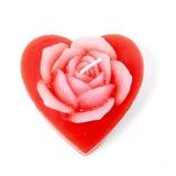 Vela del corazón de Rose Foto de archivo