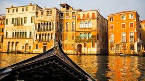 Vela del crogiolo di gondola a Venezia Fotografia Stock