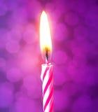 Vela del cumpleaños Imagen de archivo