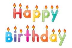 Vela del feliz cumpleaños ilustración del vector