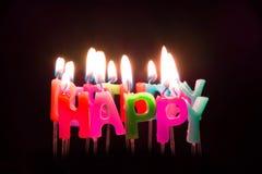 Vela del feliz cumpleaños foto de archivo libre de regalías