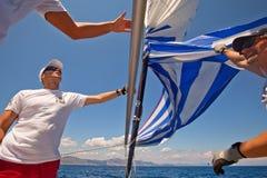 Vela del regatta de la navegación y trofeo 2012 de la diversión Imagen de archivo libre de regalías