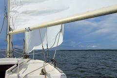 Vela dell'yacht Fotografie Stock