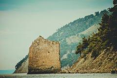 Vela della roccia su Mar Nero Fotografie Stock