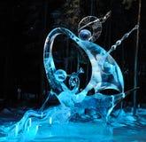 Vela della scultura di ghiaccio di amore Fotografie Stock Libere da Diritti