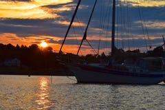 Vela di tramonto Fotografie Stock