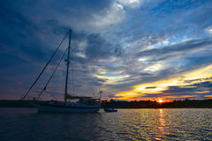 Vela di tramonto Immagine Stock Libera da Diritti