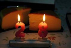Vela do aniversário Imagem de Stock