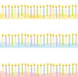 A vela do aniversário limita bandeiras ilustração do vetor