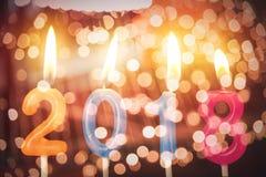 Vela do aniversário do número do aniversário do ano 2018 Foto de Stock Royalty Free