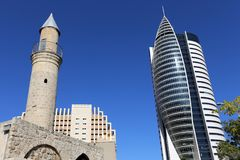 Vela do arranha-céus em Haifa Imagem de Stock
