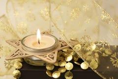 Vela do Natal Fotos de Stock Royalty Free
