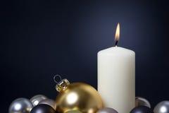 Vela do Natal Fotos de Stock
