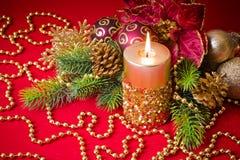 Vela do Natal Imagem de Stock Royalty Free