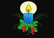 Vela do Natal ilustração do vetor