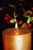 Vela do Natal da noite fotografia de stock
