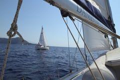 Vela do regatta da navigação & troféu do divertimento em Turquia Foto de Stock