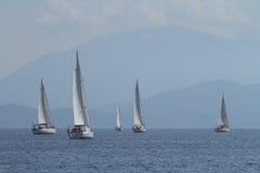 Vela do regatta da navigação & troféu do divertimento em Turquia Imagens de Stock Royalty Free