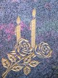 Vela e rosas Foto de Stock Royalty Free