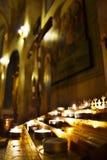 Vela en iglesia Fotos de archivo libres de regalías