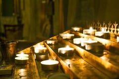 Vela en iglesia Foto de archivo libre de regalías