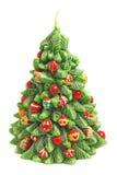 Vela en la dimensión de una variable del árbol de navidad Foto de archivo