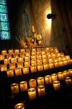 Vela en Notre Dame Foto de archivo